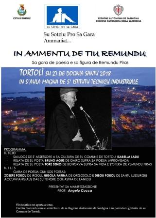 'In ammentu de tiu Remundu', gara di poesia improvvisata in limba all'Iti