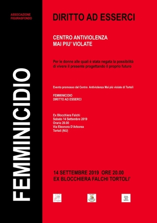 'Femminicidio. Diritto ad esserci' evento di sensibilizzazione e prevenzione sul tema della violenza di genere all'Ex Blocchiera Falchi