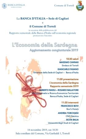 'Economia della Sardegna', presentazione del rapporto semestrale sull'economia regionale della Banca d'Italia